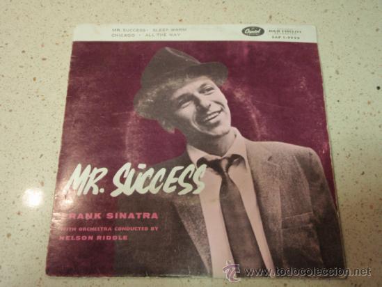 FRANK SINATRA - MR. SUCCESS, DENMARK EP CAPITOL RECORDS (Música - Discos de Vinilo - EPs - Jazz, Jazz-Rock, Blues y R&B)