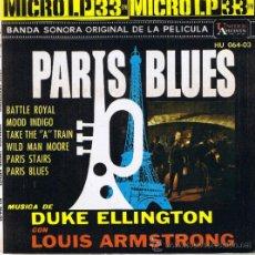 Disques de vinyle: PARIS BLUES - DUKE ELLINGTON - LOUIS ARMSTRONG - FOTO ADICONAL. Lote 36627919
