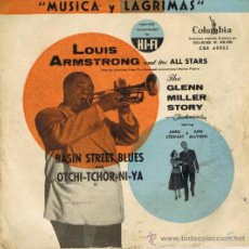 Dischi in vinile: LOUIS ARMSTRONG - MÚSICA Y LÁGRIMAS - THE GLENN MILLER STORY - FOTO ADICIONAL. Lote 36630422
