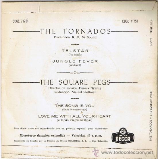 Discos de vinilo: THE TORNADOS - THE SQUARE PEGS - CANCIONES EN DESCRIPCIÓN - FOTO ADICIONAL - Foto 2 - 36588844