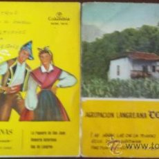 Discos de vinilo: DOS EPS DE AGRUPACIÓN LANGREANA CORO SANTIAGUÍN (SOLO PORTADAS). Lote 36621323