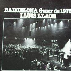 Discos de vinilo: LLUIS LLACH,BARCELONA GENER DE 1976 EDICION DEL 76. Lote 279517338