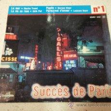 Discos de vinilo: 'SUCCES DE PARIS Nº1' CHARLES TRENET ( LA MER ) EDITH PIAF ( LA VIE EN ROSE ) GEORGES ULMER. Lote 36621875