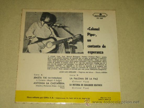 Discos de vinilo: COLONEL PIPO - 1967 - VINILO COMO NUEVO - Foto 2 - 36631950