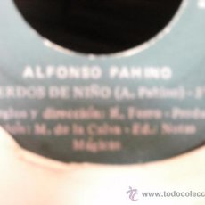 Discos de vinilo: ALFONSO PANINO RECUERDOS DE NIÑO SINGLE. Lote 36737170