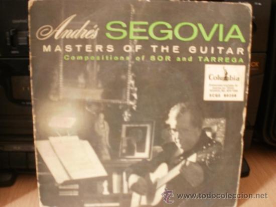 ANDRES SEGOVIA MASTERS OF THE GUITAR SINGLE (Música - Discos - LP Vinilo - Clásica, Ópera, Zarzuela y Marchas)