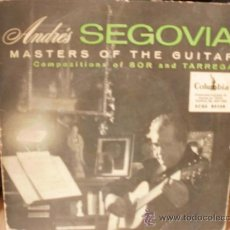 Discos de vinilo: ANDRES SEGOVIA MASTERS OF THE GUITAR SINGLE. Lote 36737188
