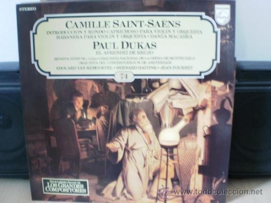 CAMILLE SAINT-SAENS Y PAUL DUKAS (Música - Discos - LP Vinilo - Clásica, Ópera, Zarzuela y Marchas)