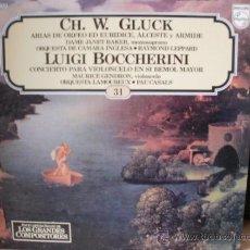 Discos de vinilo: CH W GLUCK Y LUIGI BOCCHERINI. Lote 36737405