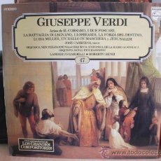 Discos de vinilo: GIUSEPPE VERDI. Lote 36737469