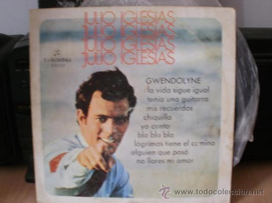 JULIO IGLESIAS GWENDOLYNE 1 SINGLE DISCO EN FORMATO 33 RPM (Música - Discos - Singles Vinilo - Cantautores Españoles)