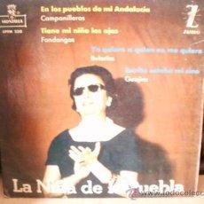 Discos de vinilo: LA NIÑA DE LA PUEBLA. Lote 36737555