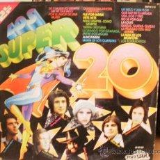 Discos de vinilo: LOS SUPER 20 CON 2 DISCOS. Lote 36737569
