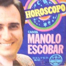 Discos de vinilo: MANOLO ESCOBAR HOROSCOPO. Lote 36737579