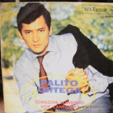 Discos de vinilo: PALITO ORTEGA CORAZON CONTENTO VOY CANTANDO SINGLE. Lote 36737595