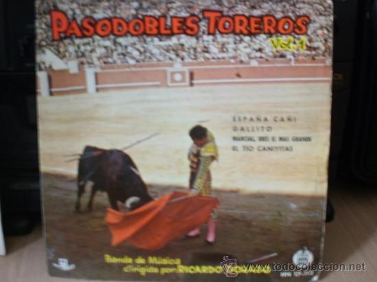 PASODOBLES TOREROS SINGLE (Música - Discos - Singles Vinilo - Clásica, Ópera, Zarzuela y Marchas)