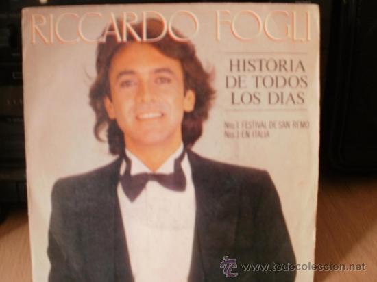 RICARDO FOGLI HISTORIA DE TODOS LOS DIAS SINGLE (Música - Discos - Singles Vinilo - Cantautores Internacionales)