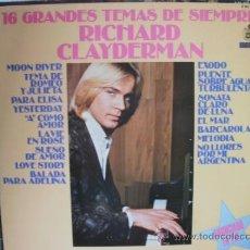 Discos de vinilo: RICHARD CLAYDERMAN 16 GRANDES TEMAS DE SIEMPRE. Lote 36737608