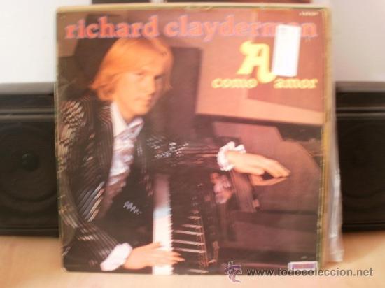 RICHARD CLAYDERMAN A COMO AMOR (Música - Discos - LP Vinilo - Clásica, Ópera, Zarzuela y Marchas)