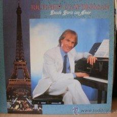Discos de vinilo: RICHARD CLAYDERMAN DESDE PARIS CON AMOR. Lote 36737615