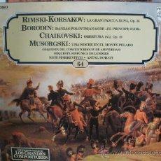 Discos de vinilo: RIMSKI-KORSAKOV BORODIN CHAIKOVSKI MUSORGSKI. Lote 36737617