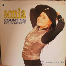 Discos de vinilo: SONIA COUNTING EVERY MINUTE SINGLE. Lote 36737621