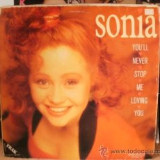 Discos de vinilo: SONIA YOU LL NEVER STOP ME LOVING YOU SINGLE. Lote 36737622