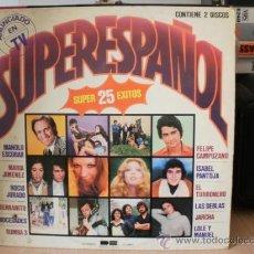 Discos de vinilo: SUPERESPAÑOL SUPER 25 EXITOS CON 2 DISCOS. Lote 36737626