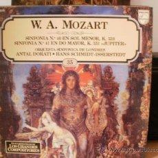 Discos de vinilo: W A MOZART. Lote 36737647