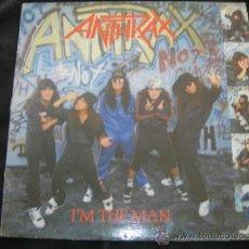 Discos de vinilo: LP ANTHRAX // I´M THE MAN. Lote 36703863