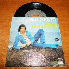 Discos de vinilo: CAMILO SESTO MELINA / QUE DIFICIL ES SER FELIZ SINGLE DE VINILO DEL AÑO 1975 HECHO EN PORTUGAL 2 TEM. Lote 36682870