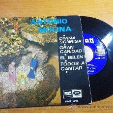 Discos de vinilo: ANTONIO MOLINA DIVINA SONRISA / EL BELEN / GRAN CARIDAD EP DE VINILO AÑO 1969 4 VILLANCICOS . Lote 36683927