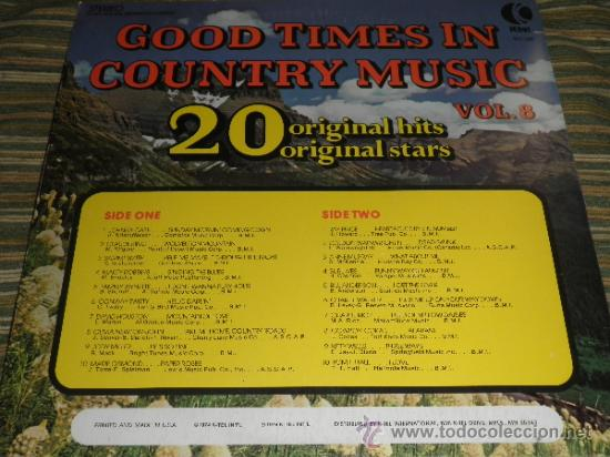 Discos de vinilo: GOOD TIMES IN COUNTRY MUSIC VOL. 8 LP - ORIGINAL U.S.A. K-TEL 1974 - LIMITED COLLECTOR´S EDITION - - Foto 10 - 36674794