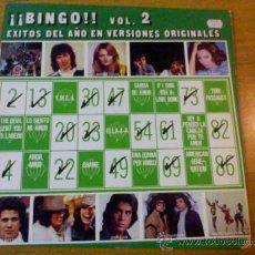 Discos de vinilo: BINGO. VOL. 2 EXITOS DEL AÑO EN VERSIONES ORIGINALES.. Lote 36711844