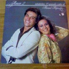 Discos de vinilo: AMOR 2 INTERPRETAN 40 GRANDES EXITOS DE MANUEL ALEJANDRO. 1981. Lote 36712362