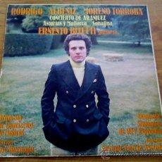 Discos de vinilo: J.RODRIGO.CONCIERTO DE ARANJUEZ PARA GUITARRA Y ORQUESTA.I.ALBENIZ.F.MORENO TORROBA.. Lote 36716986