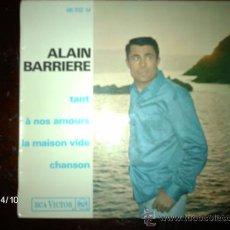 Discos de vinilo: ALAIN BARRIERE - TANT + 3. Lote 36727400