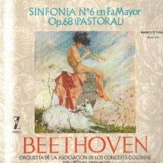 Discos de vinilo: BEETHOVEN. SINFONÍA Nº 6 EN FA MAYOR OP. 68 (PASTORAL) D-CLASICA-1374. Lote 36732670