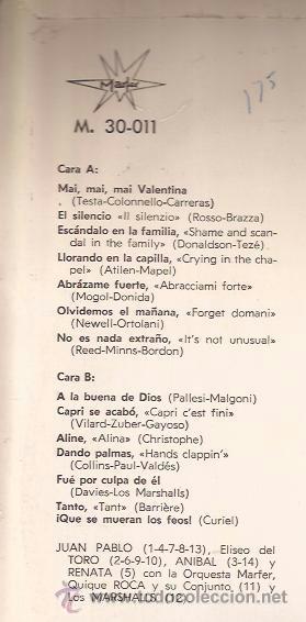 Discos de vinilo: LP-MARFER PARADE VOL.3-30011-1966-RENATA QUIQUE ROCA MARSHALLS - Foto 2 - 37107046
