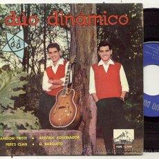 Discos de vinilo: EP 45 RPM / DUO DINAMICO / CANCION TRISTE // EDITADO POR LA VOZ DE SU AMO. Lote 36772901