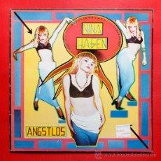 Discos de vinilo: NINA HAGEN ANGSTLOS LP VINILO CON FUNDA INTERIOR ORIGINAL CBS 1983. Lote 36773557