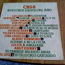Discos de vinilo: CBS 6 NUESTRO EXITOS DE AÑO. 1976. Lote 36774420