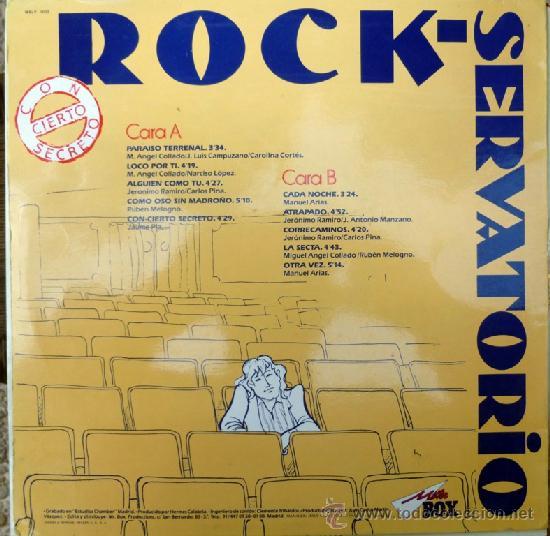 Discos de vinilo: VVAA. Rock-servatorio, con-cierto secreto. Mister-box, Esp. 1988 LP - Foto 2 - 36777831