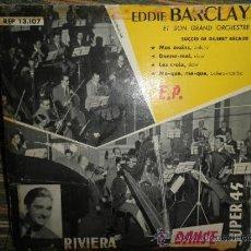 Discos de vinilo: EDDIE BARCLAY - SUCCES DE GILBERT BECAUD EP - ORIGINAL FRANCIA - RIVIERA RECORDS . Lote 36787137