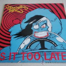 Discos de vinilo: SENSELESS THINGS ( IS IT TOO LATE? - 6 CANCIONES ) ENGLAND - 1990 MAXI45 DECOY RECORDS. Lote 36789450