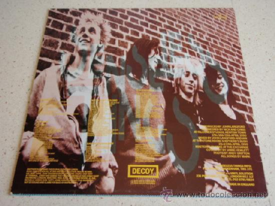 Discos de vinilo: SENSELESS THINGS ( IS IT TOO LATE? - 6 CANCIONES ) ENGLAND - 1990 MAXI45 DECOY RECORDS - Foto 2 - 36789450
