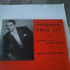 Discos de vinilo: ALEJANDRO ULLOA RECITADOS. VINILO DE 1962. Lote 36801504