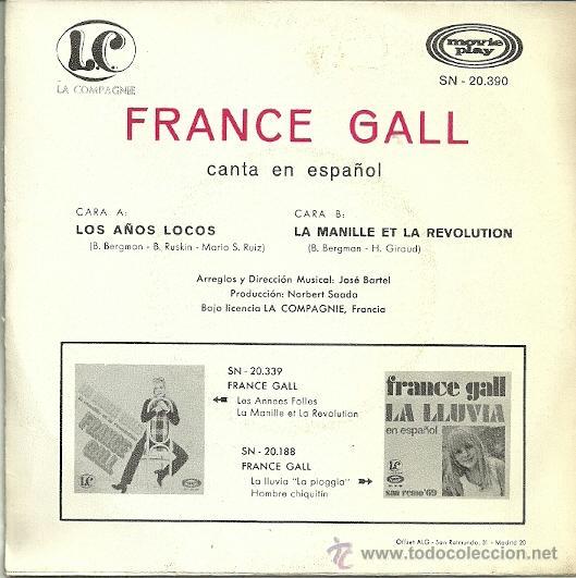Discos de vinilo: FRANCE GALL CANTA EN ESPAÑOL SINGLE SELLO MOVIEPLAY AÑO 1970 EDITADO EN ESPAÑA - Foto 2 - 36804313