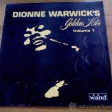 Discos de vinilo: DIONNE WARWICK´S. GOLDEN HITS. VOLUME 1. EDICION INGLESA. 1969. Lote 36816801