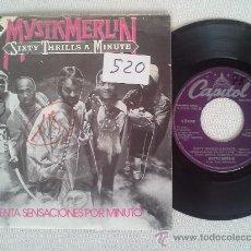Discos de vinilo: MYSTIC MERLIN . SIXTY THRILLS A MINUTE . SG 45RPM EDICION ESPAÑOLA SELLO CAPITOL - RARO !!!!. Lote 36808168